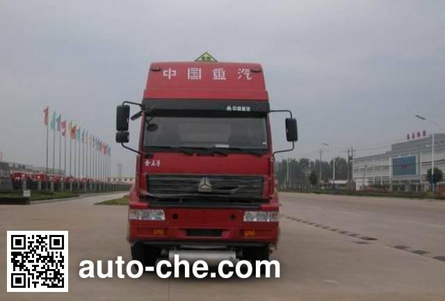 华威驰乐牌SGZ5250GHYZZ3J44化工液体运输车
