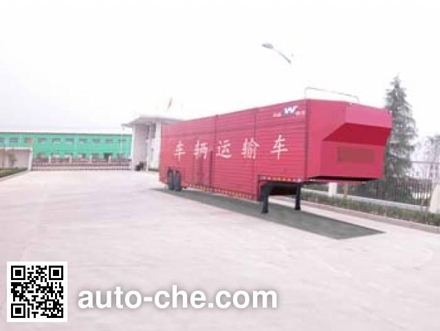 华威驰乐牌SGZ9170TCL车辆运输半挂车