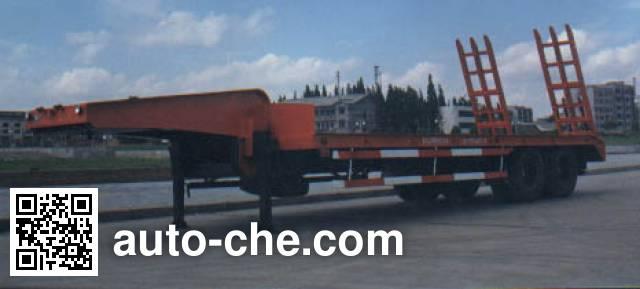 华威驰乐牌SGZ9260TGJ-G工程机械运输半挂车