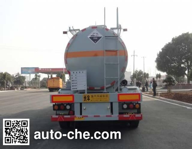 华威驰乐牌SGZ9400GFW腐蚀性物品罐式运输半挂车