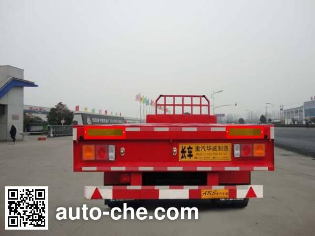 华威驰乐牌SGZ9400TPB平板运输半挂车