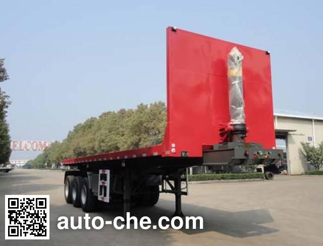 华威驰乐牌SGZ9400ZZXP平板自卸半挂车
