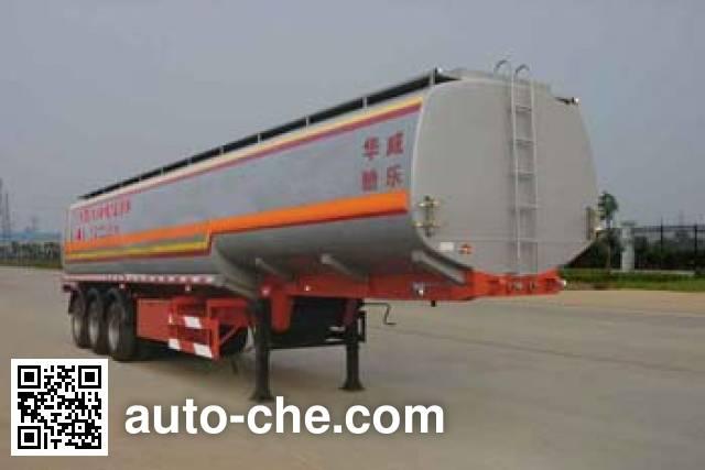 华威驰乐牌SGZ9401GHY化工液体运输半挂车