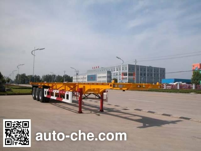 华威驰乐牌SGZ9401TJZ集装箱运输半挂车