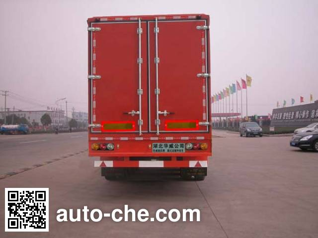 华威驰乐牌SGZ9404XXY厢式运输半挂车