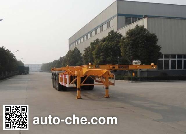 华威驰乐牌SGZ9406TJZ集装箱运输半挂车