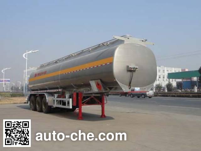 华威驰乐牌SGZ9408GYY铝合金运油半挂车