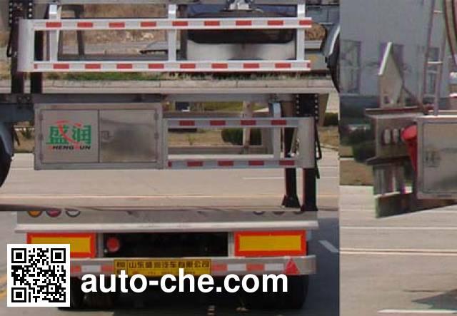 Shengrun SKW9401GRYL flammable liquid aluminum tank trailer