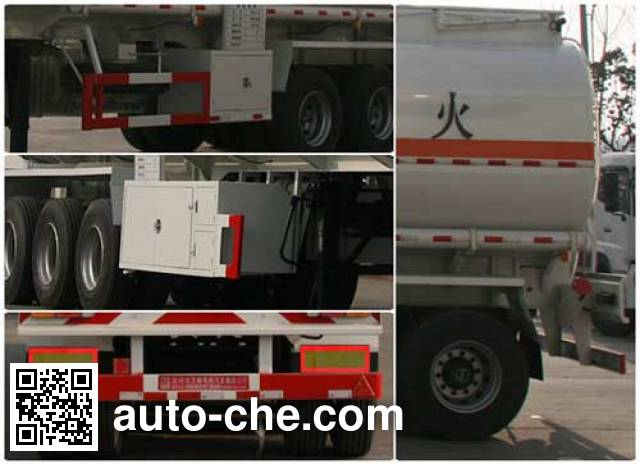 Xingshi SLS9400GRY flammable liquid tank trailer