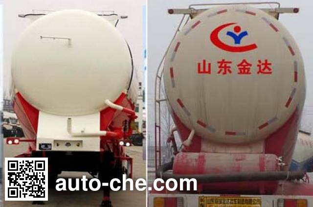 Liangyun SLY9405GFL medium density bulk powder transport trailer