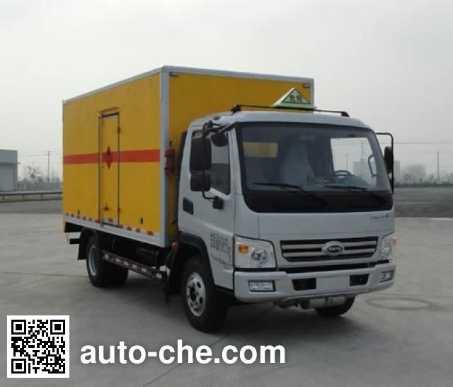 开瑞牌SQR5070XRQH29D易燃气体厢式运输车