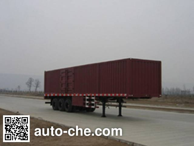 Shacman SX9400XXY box body van trailer