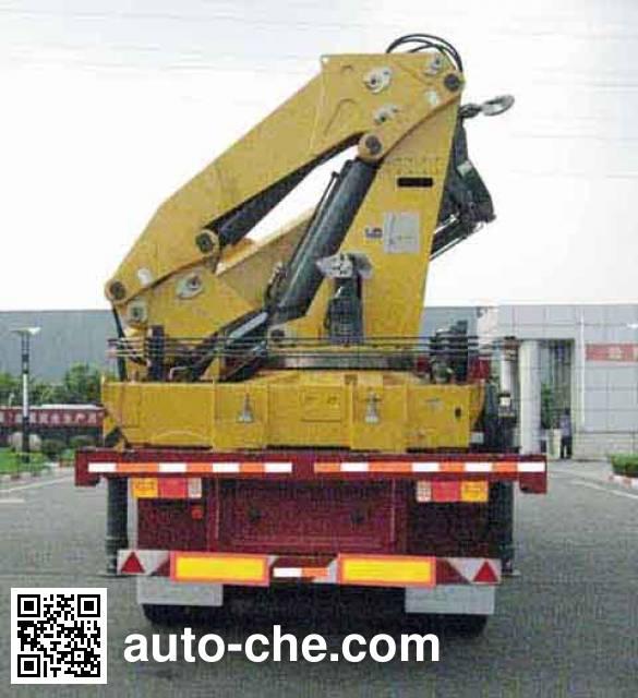 XCMG XZJ9402JSQ flatbed trailer mounted loader crane
