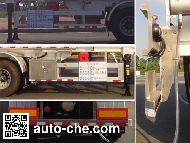 Yongqiang YQ9400GYYCF2 aluminium oil tank trailer