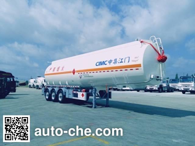 CIMC ZJV9400GRYJM flammable liquid aluminum tank trailer