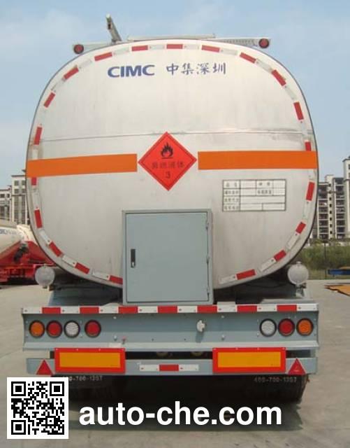 CIMC ZJV9401GLYSZ liquid asphalt transport tank trailer