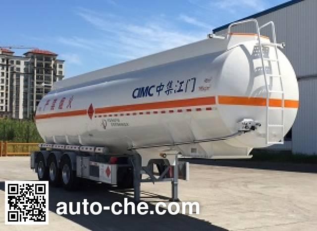CIMC ZJV9401GRYJM flammable liquid aluminum tank trailer