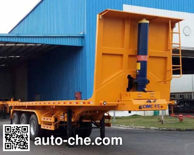 CIMC ZJV9400ZZXPSZ flatbed dump trailer