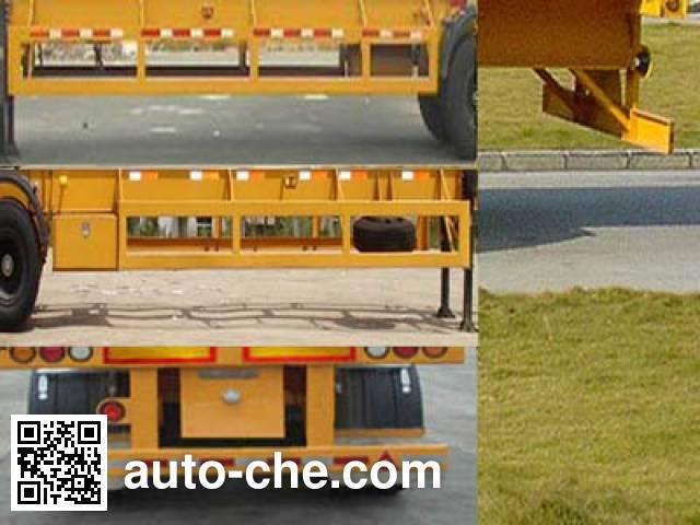 中集牌ZJV9370TJZ集装箱运输半挂车