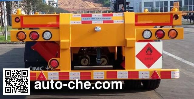 CIMC ZJV9403TWYSZ dangerous goods tank container skeletal trailer