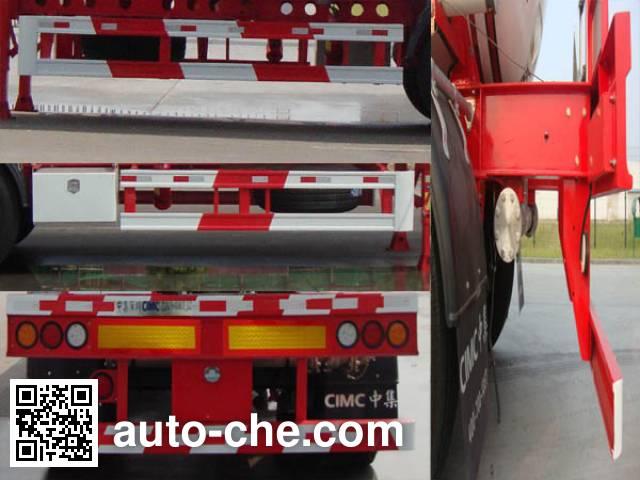 CIMC ZJV9404GRYSZB flammable liquid aluminum tank trailer