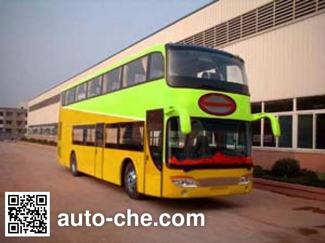 Shenye ZJZ6120DP Luxury double-decker bus on ZJZ6122R