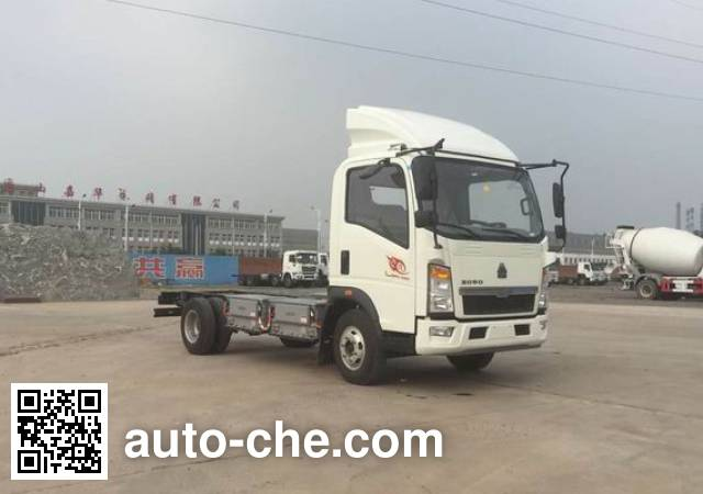 Sinotruk Howo ZZ1077F3414Z174BEV electric truck chassis