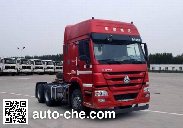 Sinotruk Howo ZZ4257N3247D1HM methanol/diesel dual fuel tractor unit