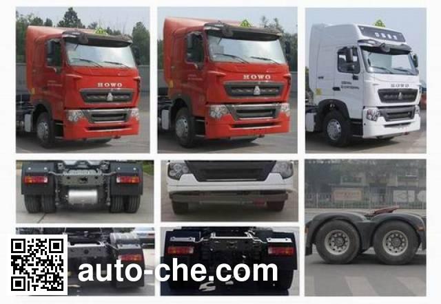 Sinotruk Howo ZZ4257N324WE1W dangerous goods transport tractor unit