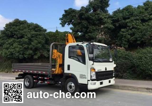 Sinotruk Howo ZZ5047JSQF341CE145 truck mounted loader crane