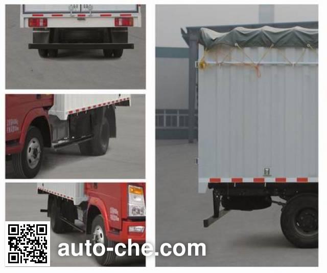 Sinotruk Howo ZZ5087CPYD3414D183 soft top box van truck