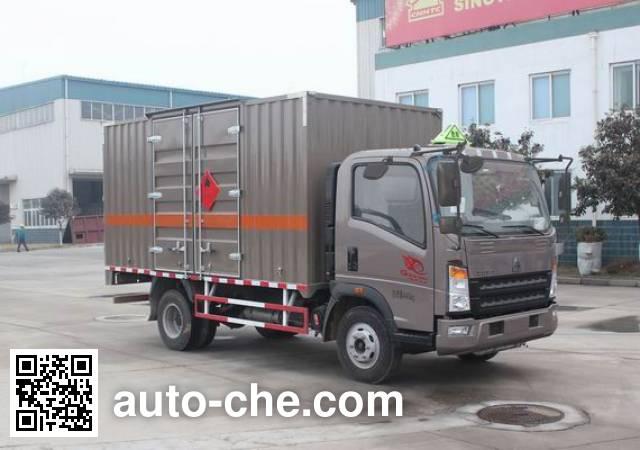 Sinotruk Howo ZZ5087XRYF331CE183 flammable liquid transport van truck