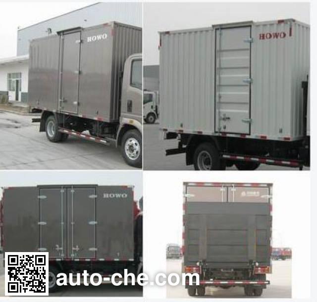 Sinotruk Howo ZZ5047XXYF331BE145 box van truck