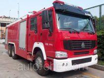 银河牌BX5260TXFGP100HW型干粉泡沫联用消防车