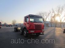 FAW Jiefang CA3310P2K2L6T4NE5A80 natural gas cabover dump truck chassis