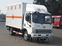 FAW Jiefang CA5045XRQP40K17L1E5A84 flammable gas transport van truck