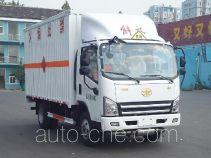 FAW Jiefang CA5085XRQP40K2L2E5A84 flammable gas transport van truck