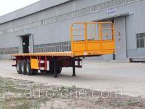 恒通梁山牌CBZ9400TPB型平板运输半挂车