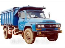 Dump covered garbage truck