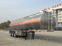 Chufei CLQ9400GRYBA flammable liquid aluminum tank trailer