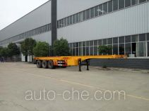 Chufei CLQ9400TWY dangerous goods tank container skeletal trailer