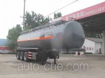 Chengliwei CLW9401GFWC corrosive materials transport tank trailer
