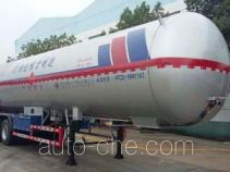Liquefied gas tank trailer