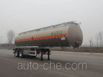 Lingyu CLY9351GYYC aluminium oil tank trailer