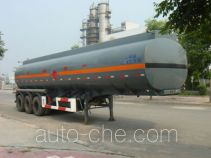 Lingyu CLY9400GHY chemical liquid tank trailer
