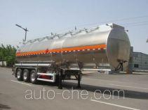 凌宇牌CLY9401GRYG型铝合金易燃液体罐式运输半挂车