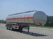 Lingyu CLY9401GRYK flammable liquid aluminum tank trailer