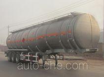 Lingyu CLY9403GRYA flammable liquid aluminum tank trailer