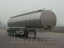 凌宇牌CLY9406GSYA型铝合金食用油运输半挂车
