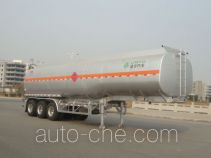 Lingyu CLY9407GRY flammable liquid aluminum tank trailer